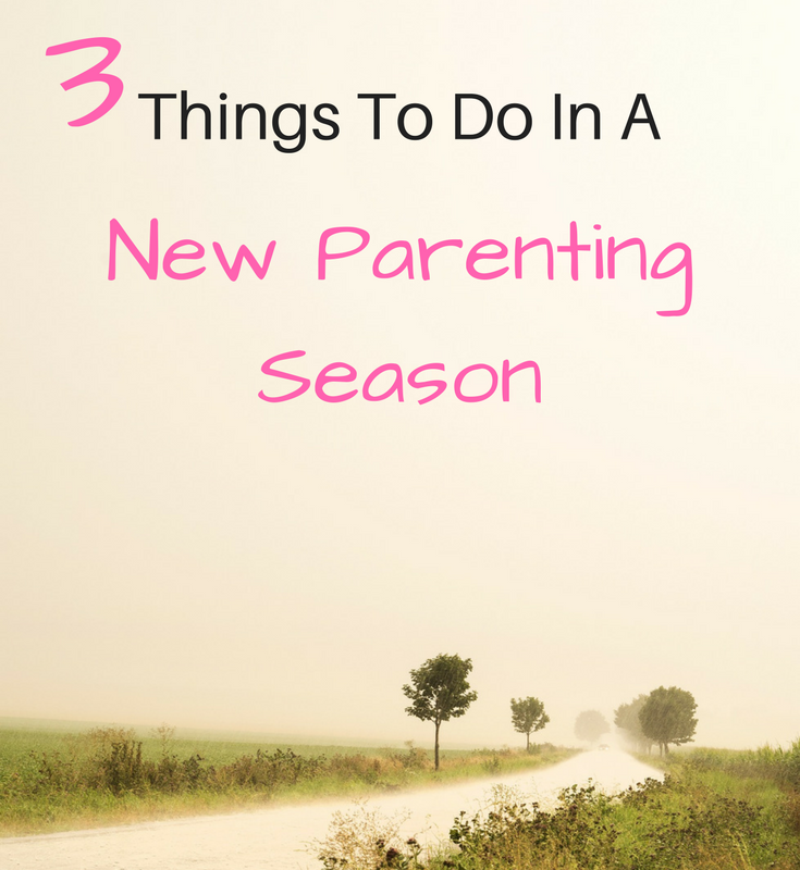 things to do in a new parenting season