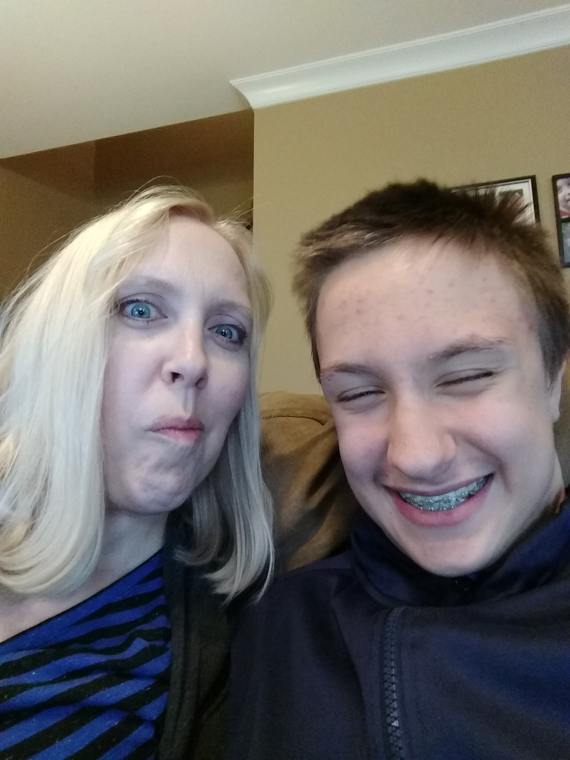 Mom and son selfie